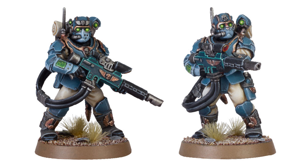 Tempestus Scions with Hot-shot Lasgun