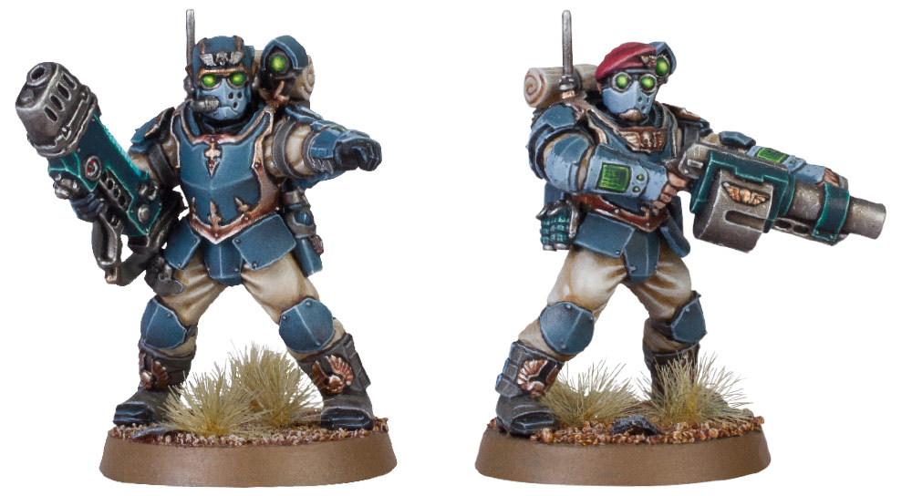 Tempestus Scion with Plasma Gun; Tempestus Scion with Grenade Launcher