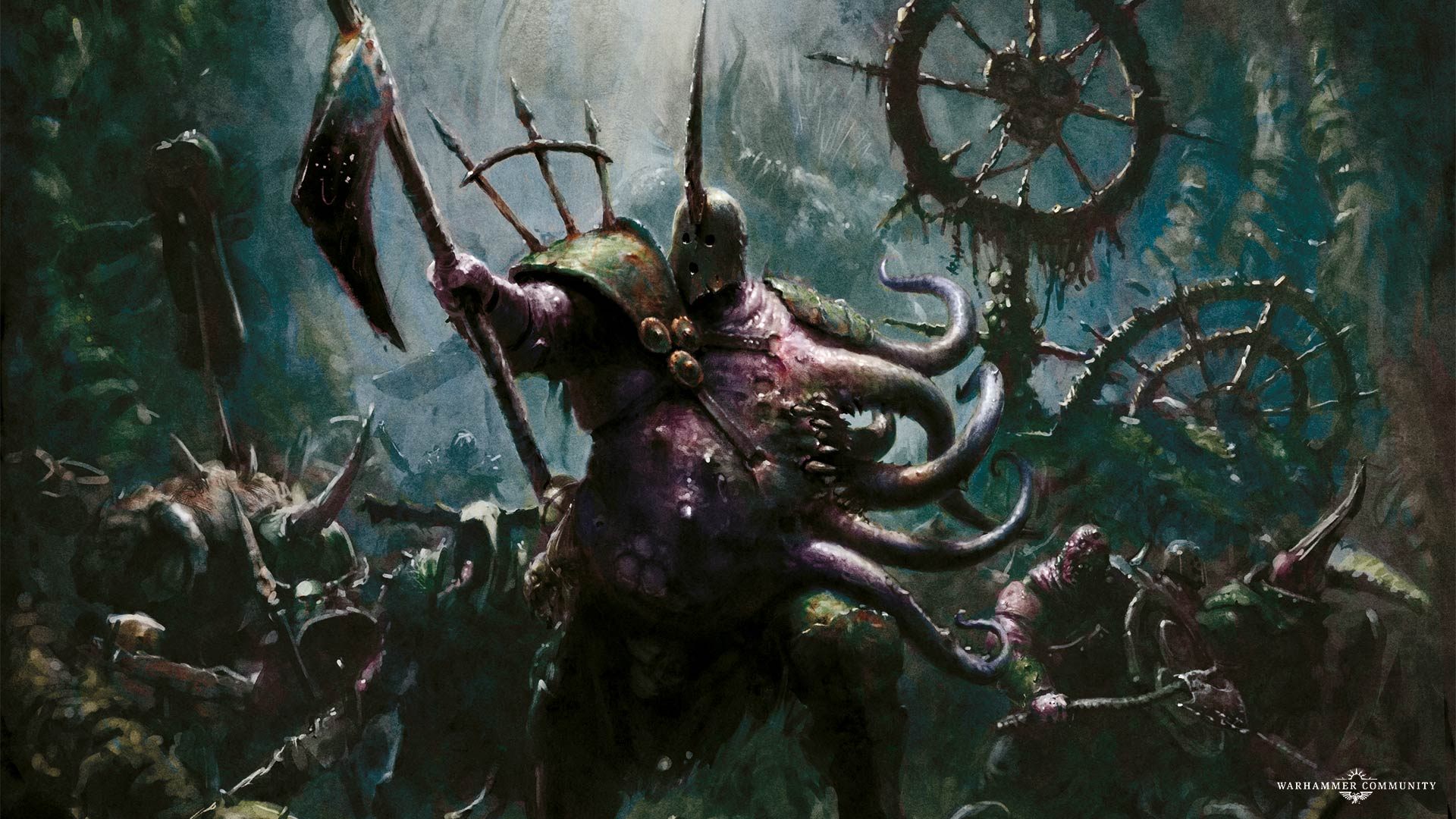 Fourth Day Of Nurgle The Lord Of Blights With New Wallpaper My
