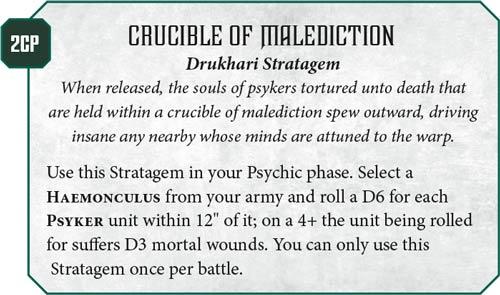 Codex Drukhari Preview Stratagems Warhammer Community Blitzplatz