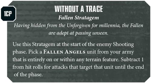 New Fallen Formation - + DARK ANGELS + - The Bolter and