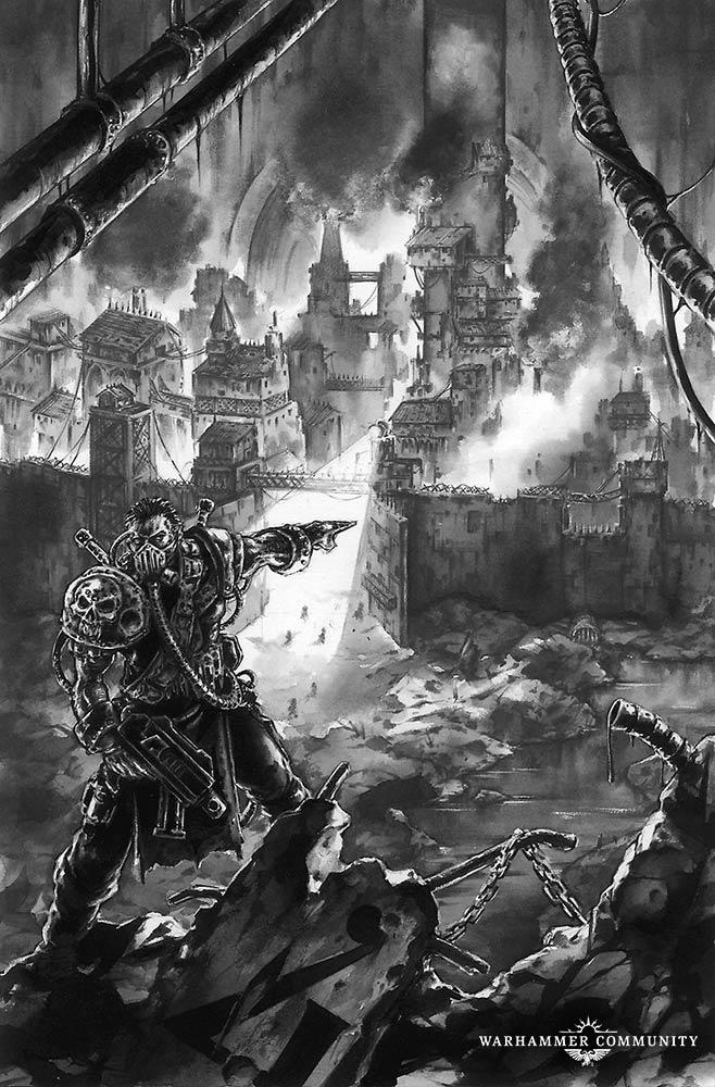 Image result for Necromunda art